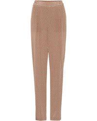 Stella McCartney - Cicely Printed Silk Trousers - Lyst