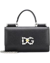 Dolce & Gabbana - Von Leather Shoulder Bag - Lyst