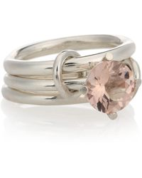 Spinelli Kilcollin - Atria Sterling Silver Ring With Morganite - Lyst