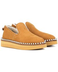 Alexander Wang - Slip-on in suede e shearling - Lyst