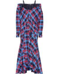 Anna October - Plaid Cotton Dress - Lyst
