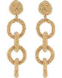Oscar de la Renta - Embellished Clip-on Earrings - Lyst