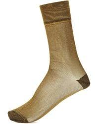 Isabel Marant - Vicka Metallic Socks - Lyst