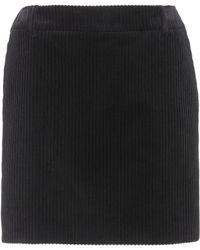 Saint Laurent - Corduroy Mini Skirt - Lyst