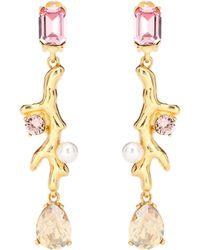 Oscar de la Renta - Crystal Embellished Earrings - Lyst