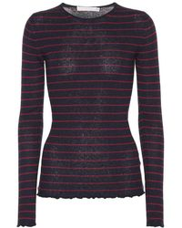 Vince - Pullover a righe in cashmere - Lyst