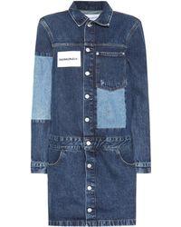 Calvin Klein - Patchwork Denim Dress - Lyst