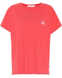 Rag & Bone - Embroidered Cotton T-shirt - Lyst