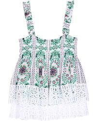 Tory Burch - Georgette Printed Sleeveless Top - Lyst
