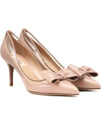 Valentino - Dollybow Leather Pumps - Lyst