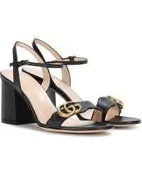 b4fa4a1511e Lyst - Gucci Leather Snake Sandal