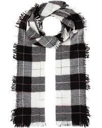 Isabel Marant - Loria Wool And Silk Plaid Scarf - Lyst