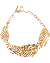 Oscar de la Renta | Palm Leaf Collar Necklace | Lyst