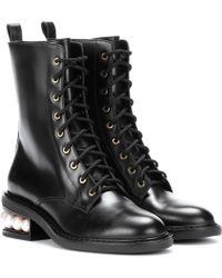 Nicholas Kirkwood - Casati Pearl Leather Biker Boots - Lyst