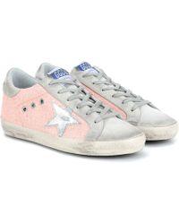 Golden Goose Deluxe Brand Exklusiv bei Mytheresa – Sneakers Superstar aus Veloursleder