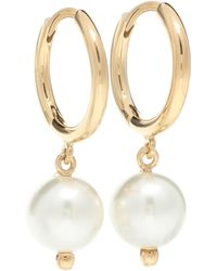 Simone Rocha - Faux-pearl Drop Hoop Earrings - Lyst