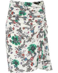Isabel Marant - Cereny Floral Stretch-silk Skirt - Lyst