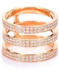 Repossi Anello Berbere in oro rosa 18kt con diamanti bianchi