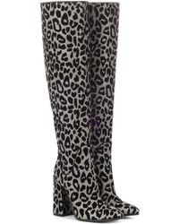 Dolce & Gabbana - Leopard Over-the-knee Boots - Lyst