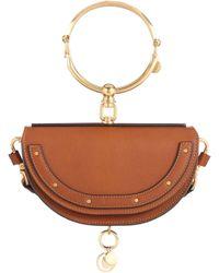 Chloé - Nile Minaudière Leather Crossbody Bag - Lyst