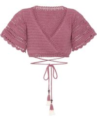 She Made Me - Amira Crochet Cotton Top - Lyst