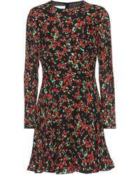 Valentino - Floral-printed Silk Minidress - Lyst