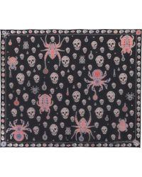 Alexander McQueen - Jewelled Bug Printed Silk Scarf - Lyst