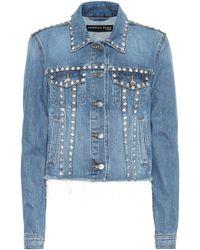 Veronica Beard - Cara Embellished Denim Jacket - Lyst