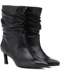 Stuart Weitzman - Demibenatar Leather Ankle Boots - Lyst