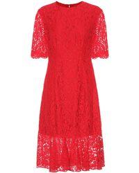 Carolina Herrera - Longuette Lace Dress - Lyst