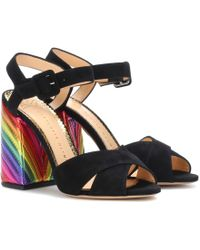 Charlotte Olympia - Emma Suede Sandals - Lyst