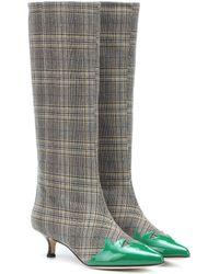 Tibi - Evin Plaid Boots - Lyst