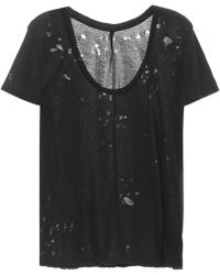 Unravel - Distressed Cotton T-shirt - Lyst