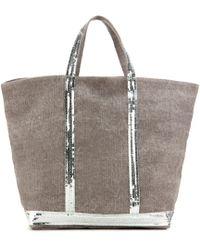 Vanessa Bruno - Cabas Medium Embellished Canvas Shopper - Lyst
