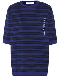 Givenchy - Striped Cotton Sweater - Lyst