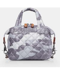 MZ Wallace Quilted Light Grey Camo Micro Sutton