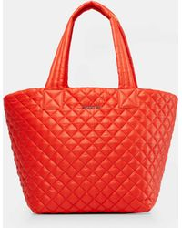 MZ Wallace - Quilted Tiger Lily Medium Metro Tote - Lyst