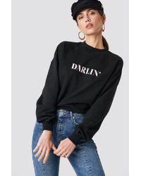 NA-KD - Darlin' Sweatshirt Black - Lyst
