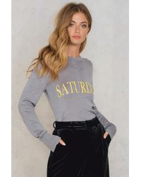 NA-KD - Weekday Knitted Sweater - Lyst