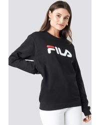 1aed426533b04 Fila Christmas Jumper With Front Logo In Knitted Fairisle in Gray - Lyst