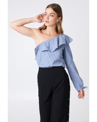 Rut&Circle - One Shoulder Frill Blouse - Lyst