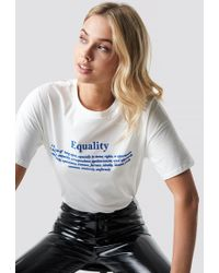 Mango - Equality Tee Offwhite - Lyst