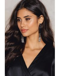 NA-KD - Hanging Beads Tassels Earrings - Lyst
