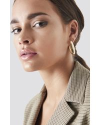 NA-KD - Structured V Earrings - Lyst