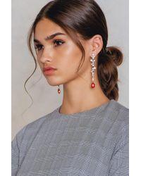 NA-KD - Multicolor Rhinestone Pin Earring - Lyst