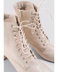 Mango - Molino Ankle Boots Vanilla - Lyst