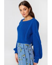 NA-KD - Short Cable Knitted Sweater - Lyst