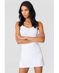 NA-KD - Basic Dress White - Lyst