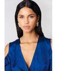 NA-KD - Jewel Flower Petal Earrings - Lyst