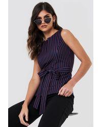 Trendyol - Striped Slit Collar Top - Lyst